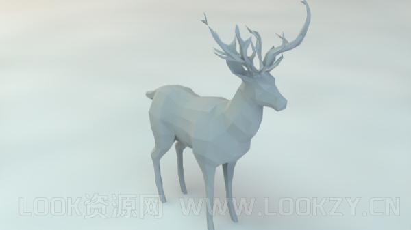 3D模型-lowpoly低模 鹿
