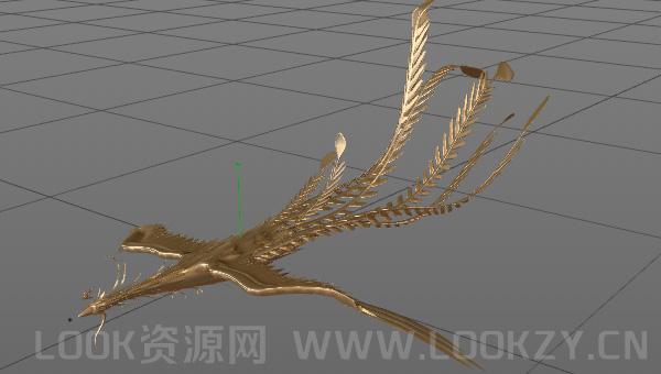 3D模型-凤凰模型含有动画
