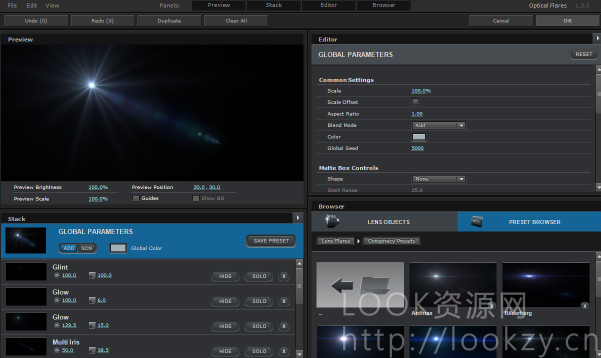 AE插件-镜头光晕 VideoCopilot Optical Flares1.3.5 WIN版完美破解版