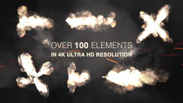 视频素材-102组动作枪战电影枪口4K火焰闪光特效素材下载