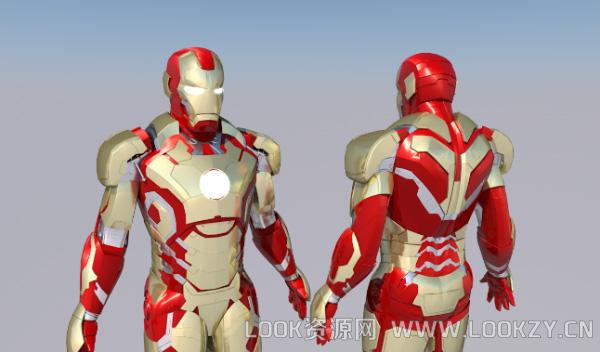 3D模型-C4D 钢铁侠模型下载