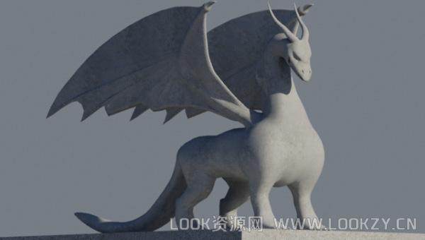 3D模型-龙的模型下载 支持文件格式.3ds .bj .fbx