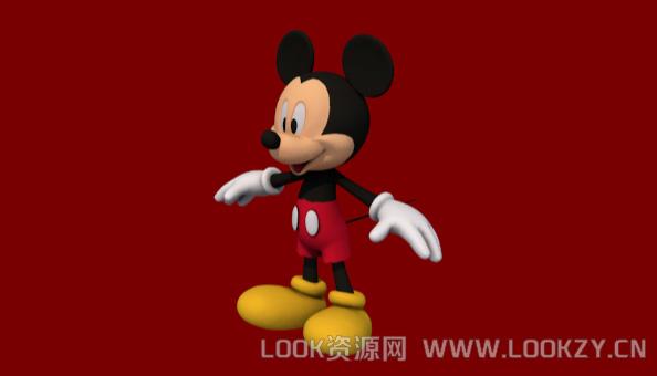 3D模型-米老鼠3D模型下载 格式支持.obj .dae