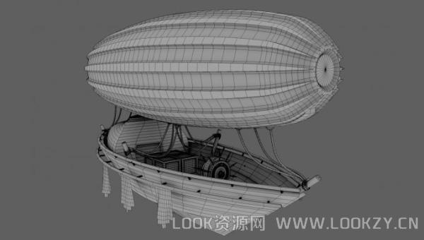 3D模型-飞艇3D模型下载  支持格式C4D