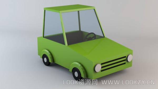 3D模型-LowPoly车模型下载 低模 格式支持OBJ