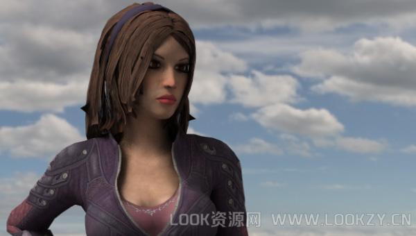 3D模型-性感战斗机女人Talia 支持格式.obj .dae .c4d .fbx