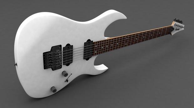 3D模型-Ibanez RG吉他3d模型 免费下载 格式支持 .C4D