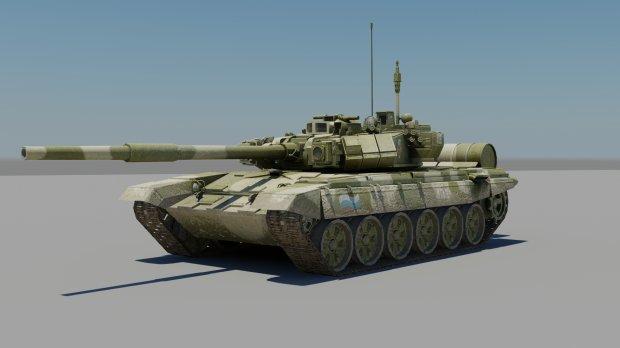 3D模型-T-90A坦克模型下载 格式支持.obj .max .fbx .dds