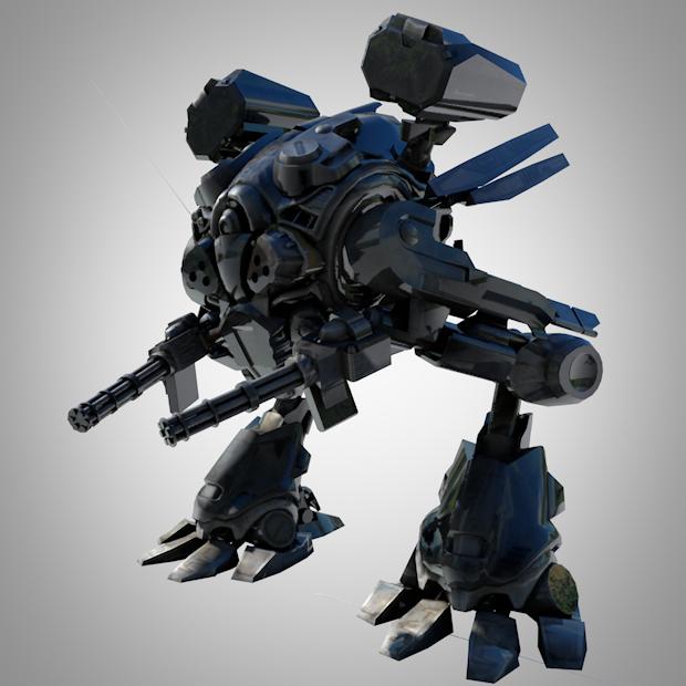 3D模型-机械手护甲机器人 3D模型 格式支持C4D  免费下载