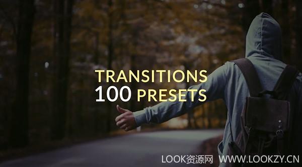 AE预设-100种多形态转场效果模板100 Presets Transitions