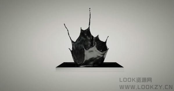 C4D教程- 漂亮水冠飞溅效果视频教程 Crown Splash Tutorial