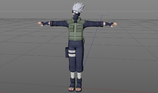 3D模型-卡卡西 动漫 游戏模型 免费下载 格式支持:OBJ