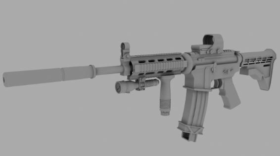 3D模型-M4A1枪模型 免费下载 格式支持:.3ds .obj .dae .c4d .mb .fbx .mtl .sldprt