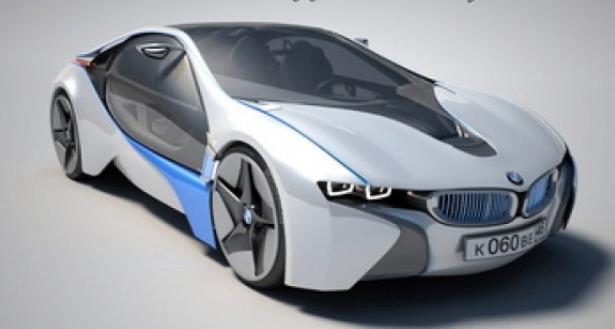 3D模型-宝马i8 汽车模型 免费下载 格式支持:.max