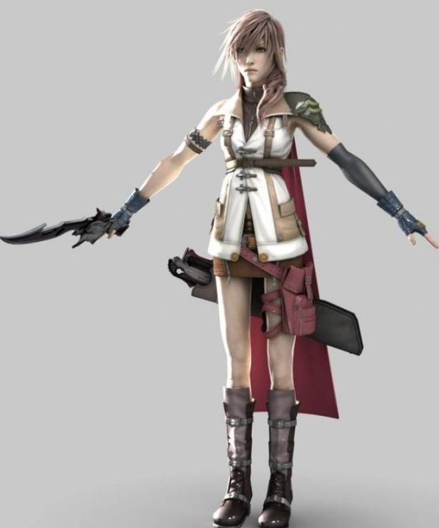 3D模型-闪电 最终幻想人物 3d模型 免费下载 格式支持:.OBJ