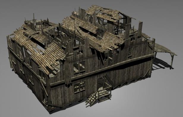 3D模型-老房子模型 免费下载 格式支持.3ds  .max  .tga