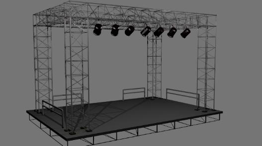 3D模型-舞台场景模型 免费下载 格式支持:OBJ