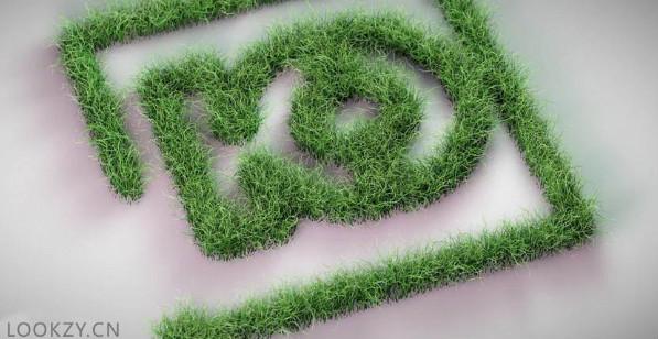 C4D工程-草丛LOGO工程文件 免费下载