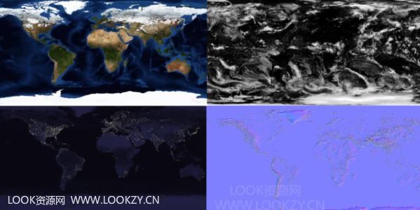 材质贴图-地球平面材质贴图素材 免费下载