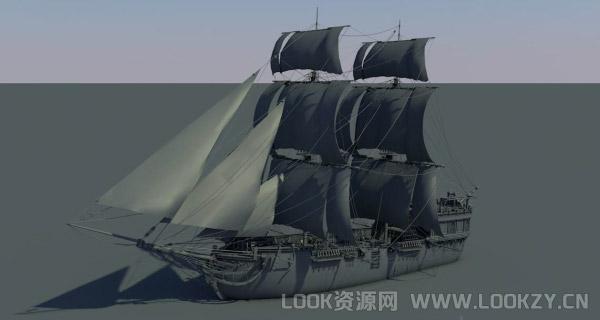 3D模型-帆船模型下载 格式支持:.c4d  .max