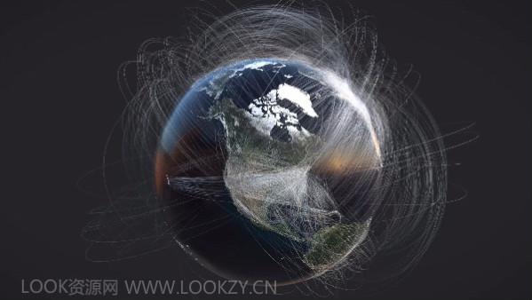 Houdini教程-地球可视化环绕线条(含工程)Visualizing Flight Routes Tutorial