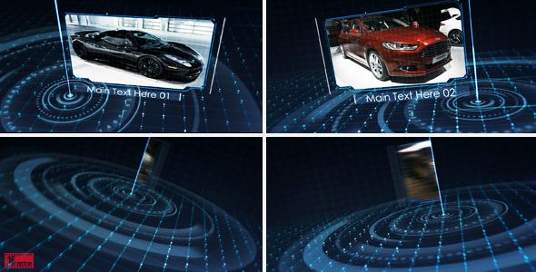 AE模板-高科技商业网格技术促销幻灯片照片模板Tech Grid Show