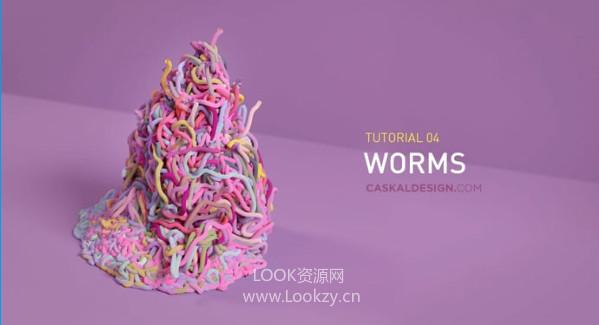 Houdini教程-创建一堆蠕虫教程(含工程) Creating a Pile of Worms Tutorial