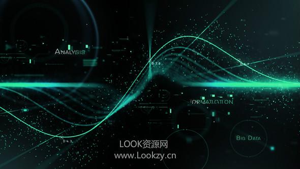AE模板-高科技粒子数字空间文字标题动画片头模板Science Opener