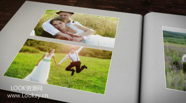 AE模板-婚礼照片相册片头包装模板 Wedding Slideshow
