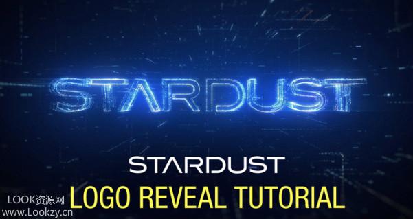 AE教程-Stardust星辰粒子插件制作标识LOGO片头动画教程Stardust Logo Build