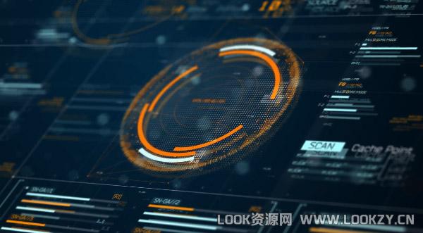 AE模板-科技感电影终极HUD数字信息元素GUI图形模板下载