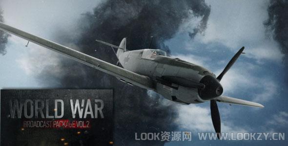 AE模板-军事题材战争广播栏目包装模板下载World War Broadcast Package Vol.2
