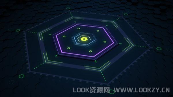 AE/C4D教程-六角形地板动画制作教程Hexagon Floor Animation Tutorial