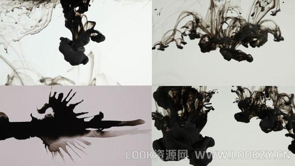 视频素材-60组中国风水墨散开墨水晕染遮罩转场素材下载