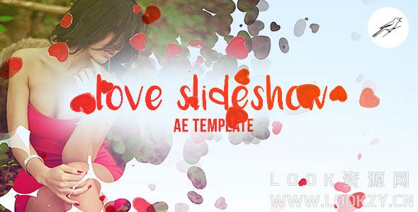 AE模板-爱心遮罩婚礼相册照片幻灯片模板下载 Love Slideshow