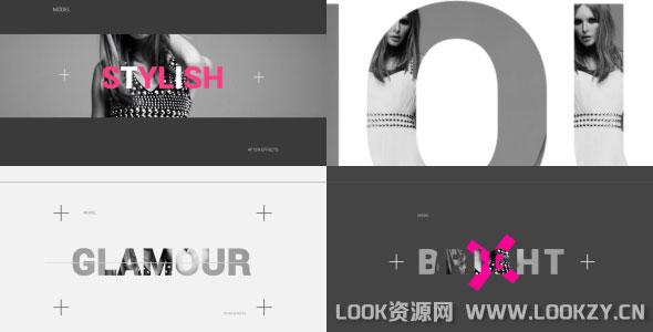 AE模板-现代时尚广告视频图文片头包装展示模板下载
