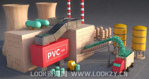 3D模型-180个可爱卡通积木风格创意多边形模型(C4D+FBX+OBJ,不含贴图)