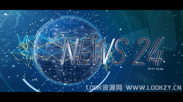 AE模板-新闻科技三维栏目包装片头开场模板