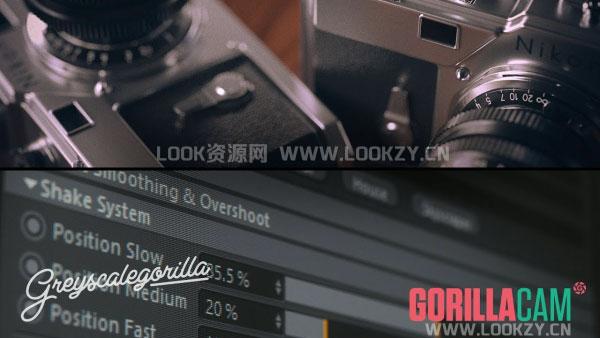 C4D插件-摄像机动画模拟插件GreyscaleGorilla GorillaCam Win/Mac含使用教程