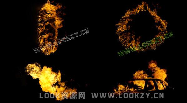 视频素材-200+组实拍火焰燃烧4K高清特效合成视频素材