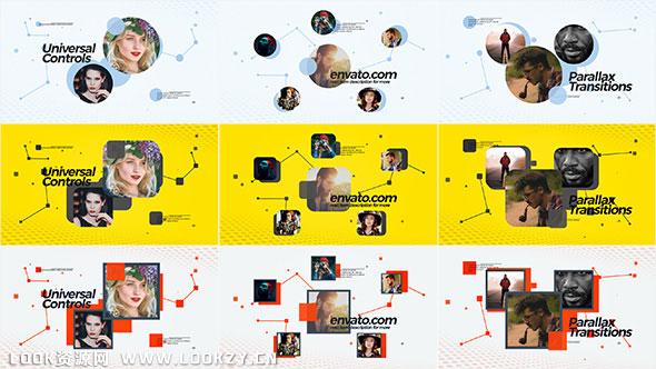 AE模板-优雅创意社交链接小头像图标动画效果视频模板