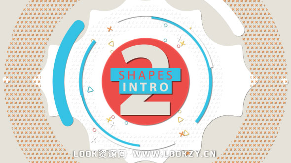 AE模板-扁平创意MG图形动画LOGO片头展示标志效果模板