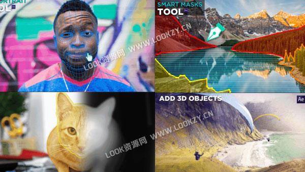 AE模板-照片转3D动画摄像机推拉旋转景深视觉动画效果模板V4.3