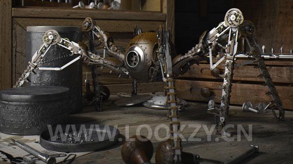 3D模型-科幻机械蜘蛛高精度3D模型下载(C4D /MAX /FBX /OBJ)