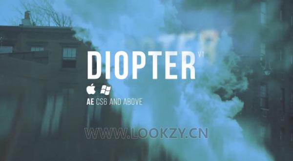 AE插件-光线折射模糊朦胧效果插件Aescripts Diopter V1.01 WIN破解版