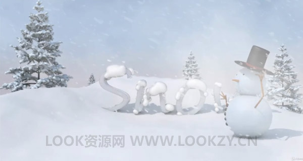 C4D教程-使用Cinema 4D R18制作三维卡通雪人动画短片流程教程