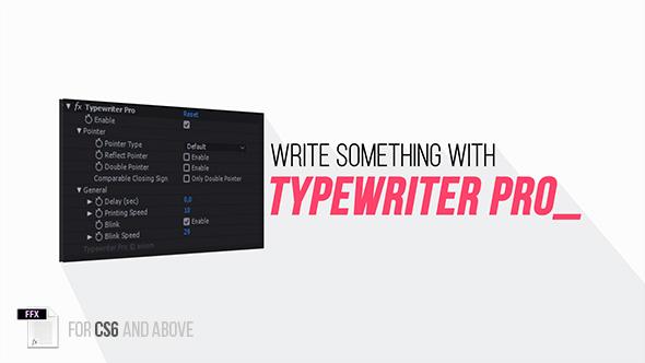 AE预设-高级打字机文字动画效果 Typewriter Pro