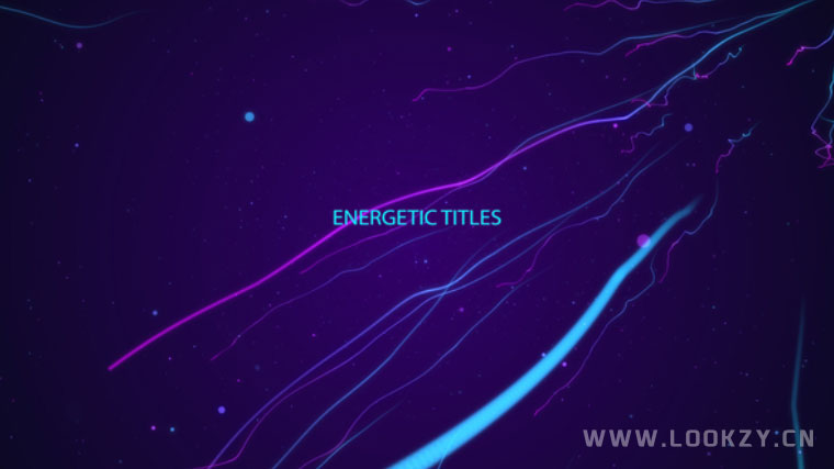 AE模板-抽象粒子线条文字标题动画模板 Energetic Titles