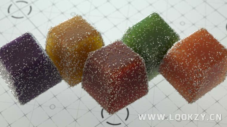 C4D材质工程-16个C4D Octane渲染器糖果SSS材质