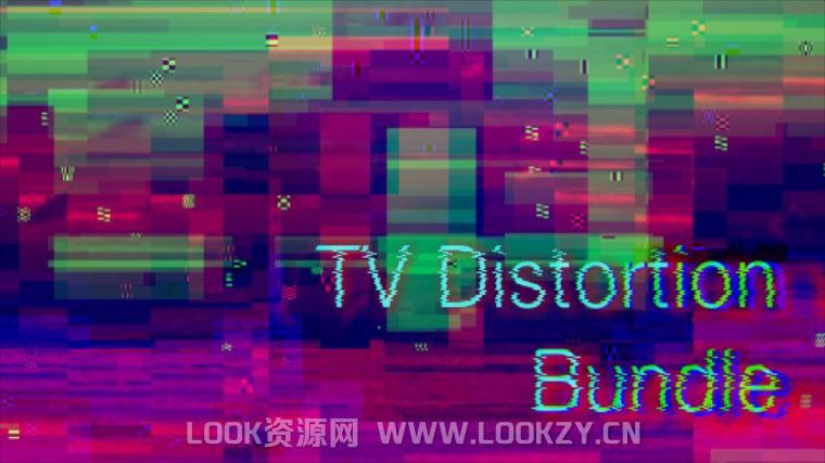 AE/PR插件-画面信号干扰像素破损失真插件Rowbyte TV Distortion Bundle v2.0.7 Win